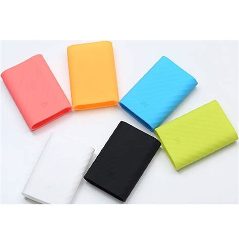 Silicon Cover For Xiaomi Power Bank 10000mah 100 Original Xiaomi Prom Silicon Cover For Xiaomi Power Bank 10000mah Oem Black