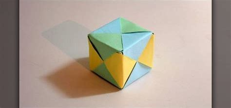 Paper Folding Cube - how to make a cube from folded paper with origami