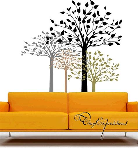 tree stencil for wall mural forest theme trees branches birch peel stick wall mural decal stencil sticker on etsy 79 99