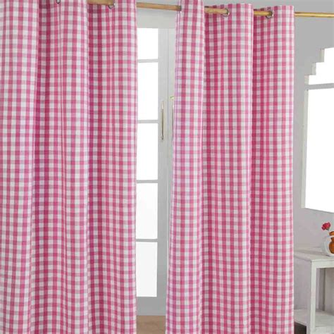 ready made pink curtains check eyelet ready made curtain blue green pink orange