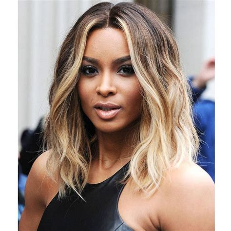 blonde ombre feathered styles for african americans celebrity ciara hairstyle ombre blonde wig short pixie wig