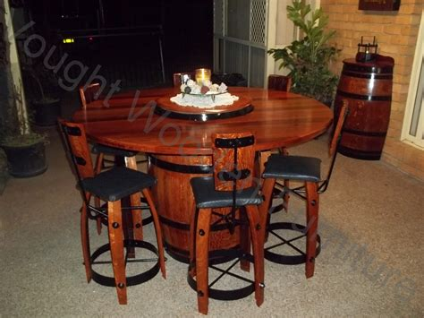 Wine Dining Table Wine Barrel Bistro Table With 6 Chairs Time Photo Table Has A Lazy Susan With It Which