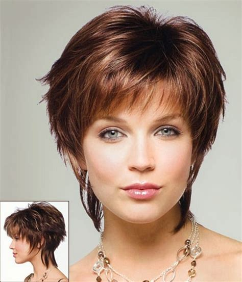 Short Haircuts With Bangs Round Faces | short hairstyles for round faces flattering and feminine