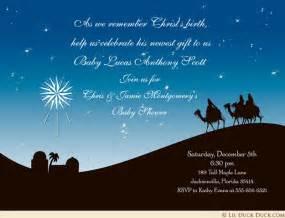christian christmas party invitation three wise men star