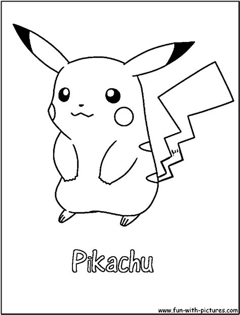 pokemon coloring pages pikachu pikachu and white coloring pages