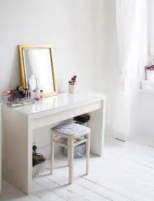 Ikea Vanity Table Ideas White Wooden Glass Top Dressing Table Ikea Vanity White Room Decor Minimalist Desk Design Ideas