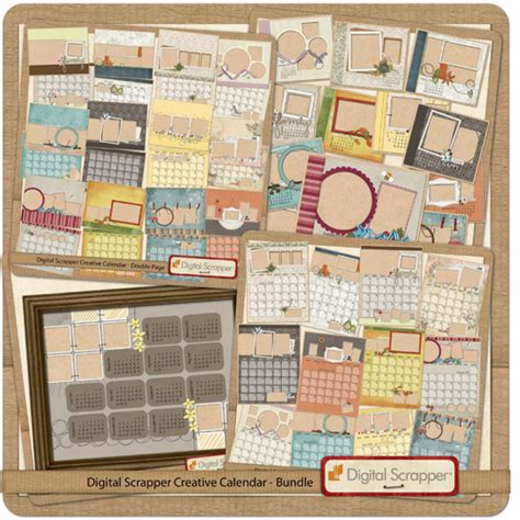 scrapbook calendar template it s digital scrapbooking day enter to win a copy of pse