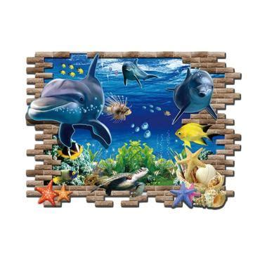 jual tokuniku wpp002 lumba lumba 3d wallpaper sticker
