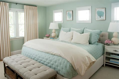 seafoam green walls bedroom hgtv loves this dreamy coastal bedroom with seafoam green walls pale blue bedding and