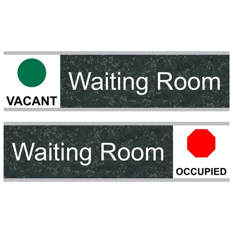 waiting room engraved sliding sign egre 640 slide whtonchmrbl