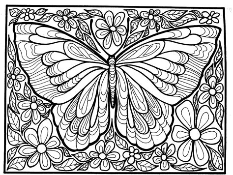 difficult butterfly coloring pages big butterfly butterflies insects adult coloring pages
