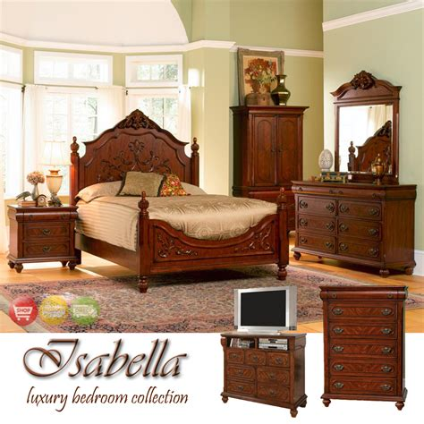 traditional bedroom furniture sets isabella traditional medium finish bedroom furniture set coaster 200511