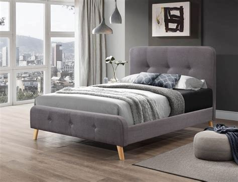 Nordic Bed Frame Flair Furnishings Nordic 5ft Kingsize Grey Fabric Bed Frame By Flair Furnishings