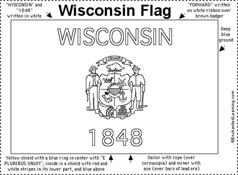 wisconsin state flag coloring page texas state coloring