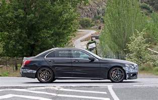 2018 mercedes amg c63 sedan facelift spied testing on