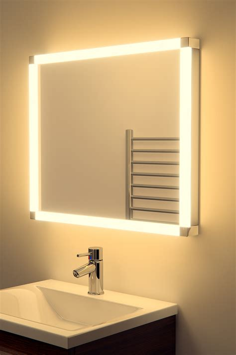 bathroom mirrors demister bazeer led glow bathroom mirror with sensor shaver