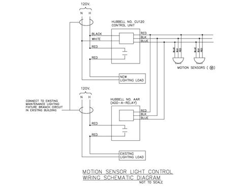 motion sensor light wiring schematic diagram