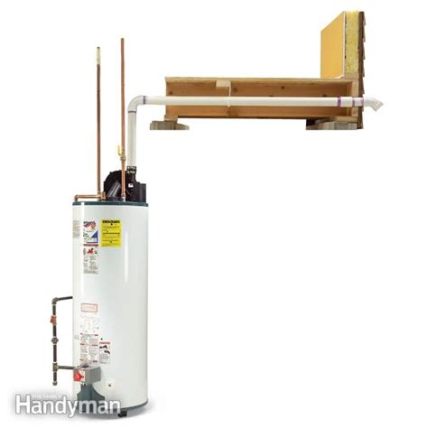 water heater exhaust vent installation how to install a power vented water heater family handyman