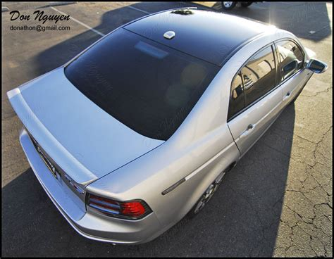 2009 acura tl with black roof wrap don nguyen gloss black vinyl roof wrap silver tl type