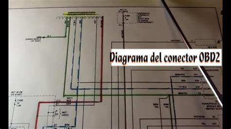 repaso del diagrama del conector obd  lineas de