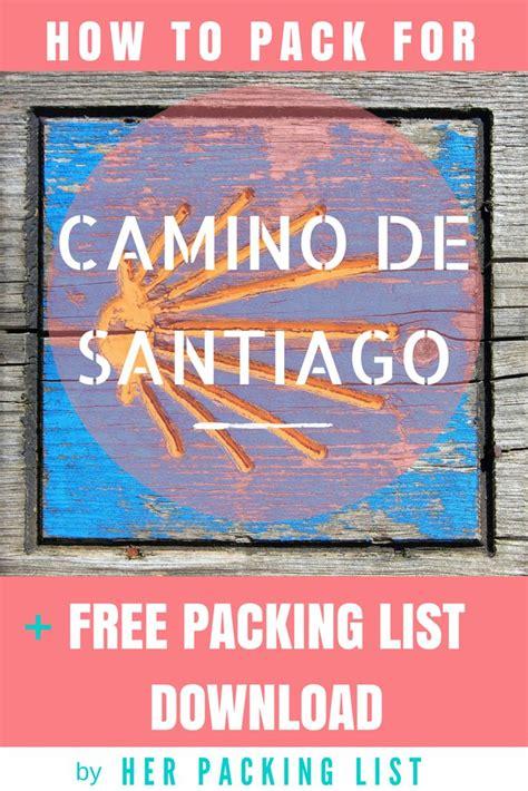 camino de santiago packing list m 225 s de 25 ideas incre 237 bles sobre camino de santiago en