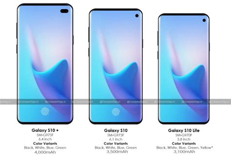samsung galaxy s10 rumor roundup details screen and battery info gsmarena news