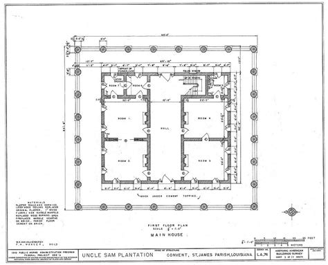 plantation floor plan floor plans and drawings uncle sam plantation convent st