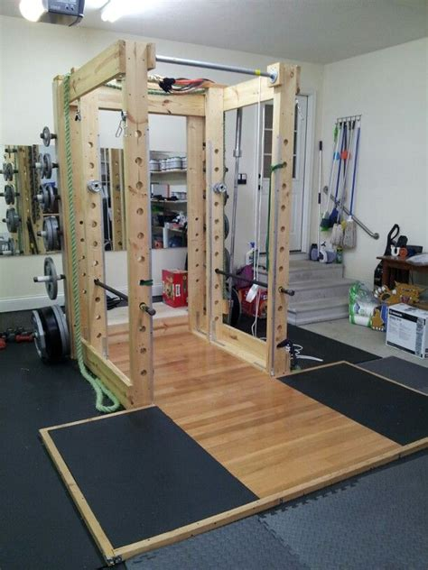 squat rack with lifting platform exercise