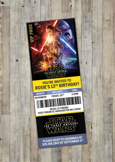 printable star wars movie tickets 17 best images about tickets on pinterest polar express
