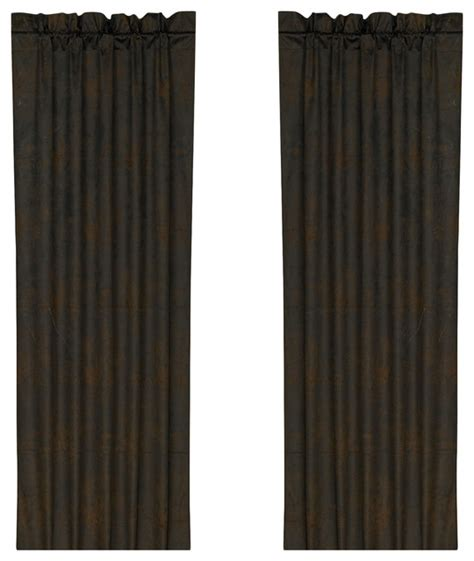 leather curtains drapes hiend accents chocolate faux leather curtain curtains