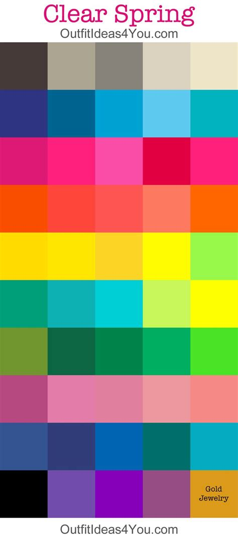 spring color palette 17 best images about color analysis clear bright spring