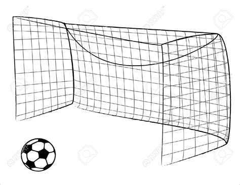Soccer Goal White black and white soccer goals peaks free