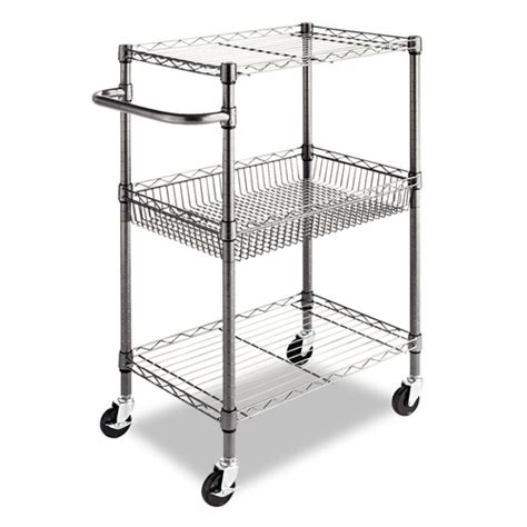 3 tier metal kitchen cart utility cart with adjustable