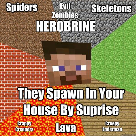 Minecraft Herobrine Memes - minecraft memes quickmeme
