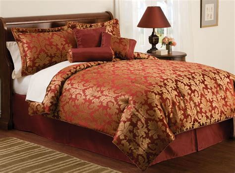 red bedspreads and comforters red gold jacquard queen size comforter bedding bed set