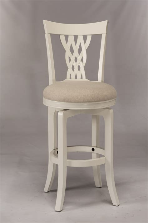 White Wood Swivel Bar Stools by Hillsdale Wood Stools 5753 830 White Swiveling Bar Stool