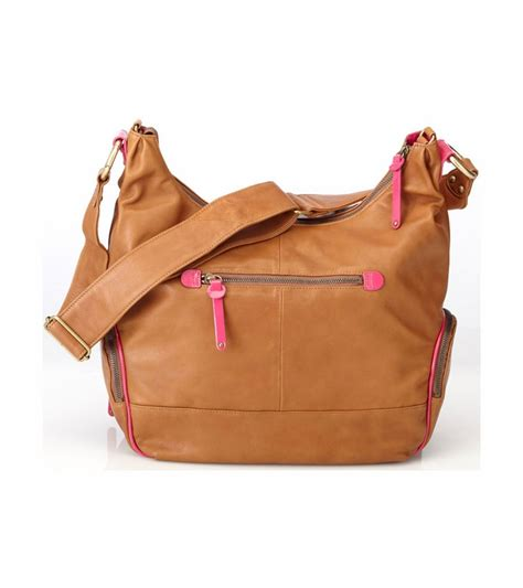 Guess Who The Lambskin Bay Bag by Oioi Leather Bag Pink