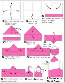 origami strawberry short cake