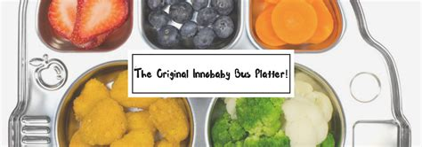 Inno Baby Din Din Smart Stainless Divided Plate innobaby din din smart stainless divided platter