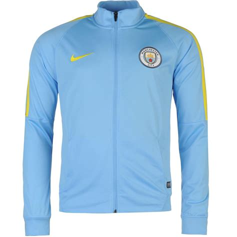 Jaket Top Waterproof Manchester City nike manchester city fc track jacket mens blue football soccer tracksuit top ebay