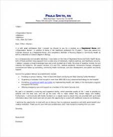 cover letter for nurses application sle application cover letter 9 exles in word pdf