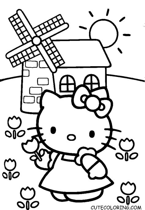 hello kitty mimmy coloring pages hello kitty coloring pages cutecoloring com