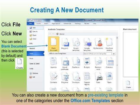 begin a new document by searching templates for cards microsoft word 2010 beginning class