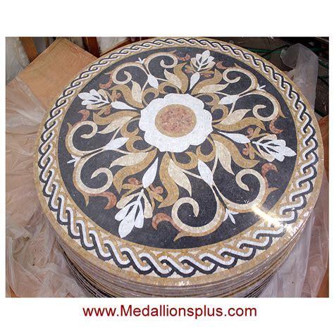 """MARSEILLE, 36"""" Mosaic Floor Medallion   Honed"""
