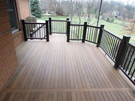 ipe deck wtimbertech railing green township  area