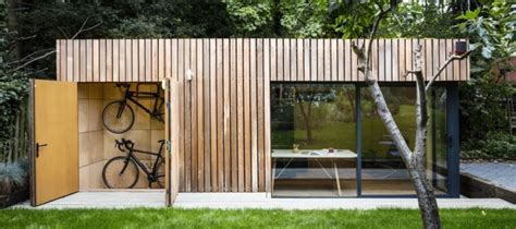 Nice Simple Shed Roof House Plans #2: Office-shed-with-bike-storage-900x400.jpg