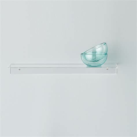 single acrylic wall shelves the container store