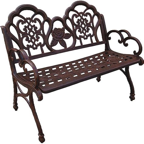 outdoor benches at walmart sahara outdoor bench bronze finish walmart com