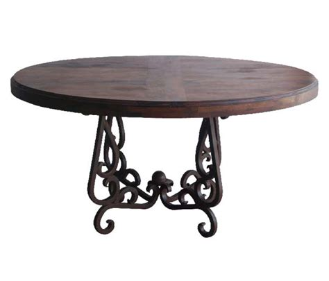 mesquite wood and iron dining table western dining tables