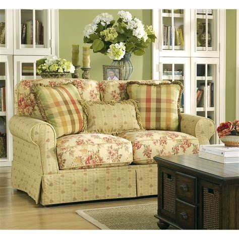 country cottage style sofas ella spice loveseat 6800135 furniture rooms